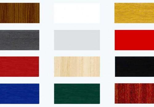 Muestra de colores con la posibilidades de una ventana o puerta en pvc