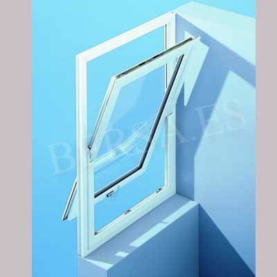 ventana de pvc con apertura pivotante