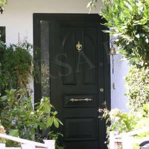 puerta blindada en pvc verde