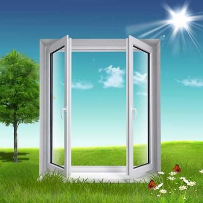 Una ventana en pvc un material respetuoso con el medio ambiente